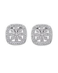 KC Designs - White 14k Gold And Diamond Earrings - Lyst