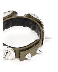 Eddie Borgo - Metallic Casing Gear Stud Leather Bracelet - Lyst