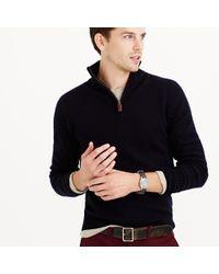 J.Crew | Blue Cotton-cashmere Crewneck Sweater for Men | Lyst