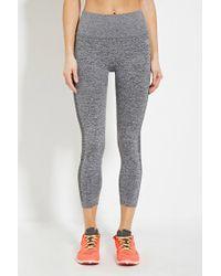 Forever 21 | Gray Active Heathered Capri Leggings | Lyst
