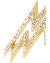 Venyx - Metallic Electra 18-Karat Gold Diamond Hoop Earrings - Lyst