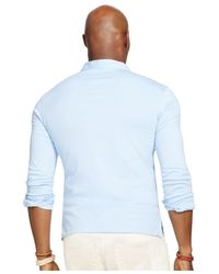 Polo Ralph Lauren | Blue Big And Tall Pima Soft-touch Estate Shirt for Men | Lyst