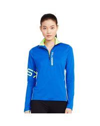 Polo Ralph Lauren | Blue Half-zip Mockneck Pullover | Lyst