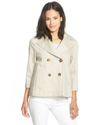 Lafayette 148 New York - Natural 'axelle - Inverno Twill' Jacket - Lyst