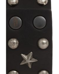 Isabel Marant - Black Studded Leather Bracelet - Lyst