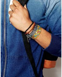 ASOS | Multicolor Beaded And Woven Bracelet Pack In Multi Colour for Men | Lyst