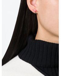 Vivienne Westwood Anglomania - Pink Rose Orbit Earrings - Lyst