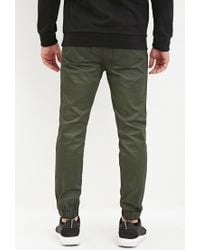 Forever 21 | Green Coated Chino Joggers for Men | Lyst