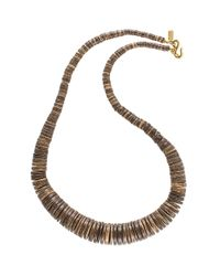 Kenneth Jay Lane | Brown Graduated Agate And 22K Goldtone Necklace | Lyst
