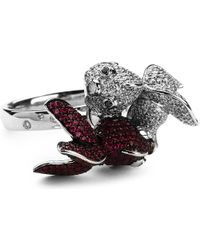 Qeelin | Red Qinn Qin Ring Diamond and Ruby Ring | Lyst