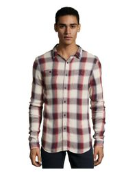 Jachs | Red Plaid Woven Flannel Button Front Shirt for Men | Lyst