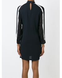 Valentine Gauthier - Black Striped Detail Mini Dress - Lyst