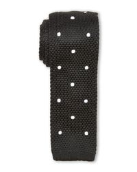 Burma Bibas - Black Dotted Textured Knit Tie for Men - Lyst