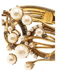 Erickson Beamon - Metallic Stratosphere Crystal & Faux-Pearl Cuff - Lyst