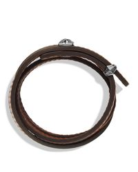 David Yurman | Armory Triplewrap Bracelet in Brown for Men | Lyst