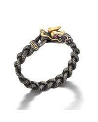 John Hardy | Gray Naga Station Bracelet for Men | Lyst
