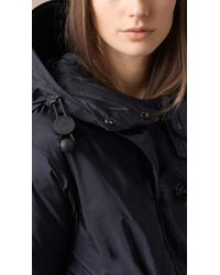 Burberry - Blue Weatherproof Parka With Down-Filled Warmer - Lyst