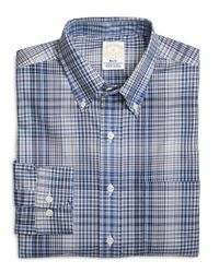 Brooks Brothers | Blue Non-iron Milano Fit Glen Plaid Dress Shirt for Men | Lyst
