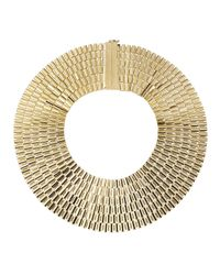 Rosantica | Metallic Cleopatra 24K Gold Dipped Collar Necklace | Lyst