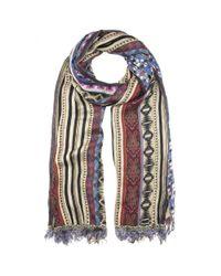 Etro - Purple Printed Wool-blend Scarf - Lyst