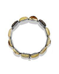 David Yurman | Metallic Chiclet Single-row Bracelet With Gold | Lyst