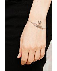 Vivienne Westwood - Metallic Thin Line Orb Bracelet - Lyst