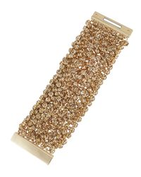 Fragments | Metallic Golden Rhinestone Bracelet With Box | Lyst