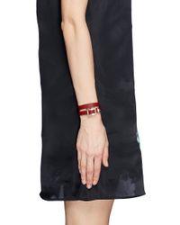 Valentino | Red Single 'rockstud' Leather Bracelet | Lyst