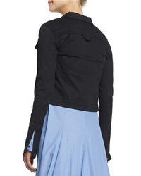Rosie Assoulin - Black Cotton Twill Utility Jacket - Lyst