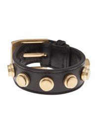 Saint Laurent - Black 'Bracelet De Force' Cuff - Lyst