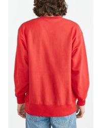 Champion - Red Reverse Weave Sweatshirt for Men - Lyst