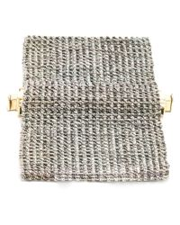 Carolina Bucci - Gray Woven Bracelet - Lyst