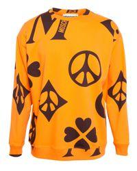 Moschino - Orange Symbol Sweatshirt for Men - Lyst