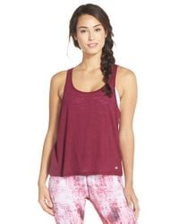 Alo Yoga | Purple Twist Tank Top | Lyst