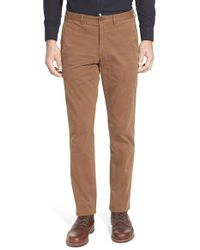 Thomas Dean | Brown Stretch Chinos for Men | Lyst