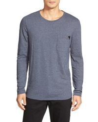 HUGO | Blue Regular Fit Long Sleeve Crewneck T-Shirt for Men | Lyst