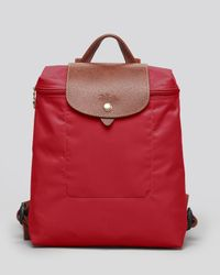 Longchamp   Red Le Pliage Backpack   Lyst
