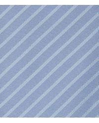 Reiss | Blue Vasto Silk Striped Tie for Men | Lyst