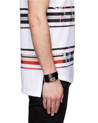Givenchy - Metallic Shark Tooth Double Wrap Bracelet for Men - Lyst
