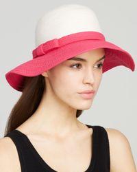 kate spade new york | Pink Colorblock Sun Hat | Lyst