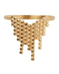 Maria Black | Metallic Cascade Gold Plated Ring | Lyst