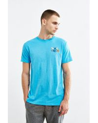Urban Outfitters - Blue Charlotte Hornets Vintage Logo Tee for Men - Lyst
