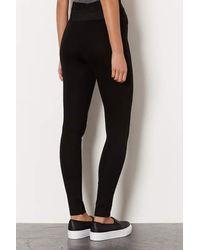 TOPSHOP | Black Side Double Elastic Leggings | Lyst