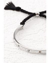 Forever 21 | Metallic Rhinestoned Adjustable Cuff | Lyst
