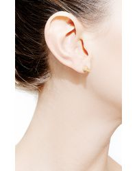 Fallon - Metallic Double Microspike Earrings - Lyst