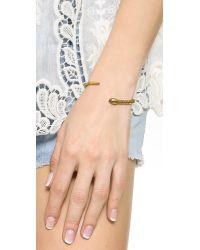 Madewell - Metallic Snake Cuff Bracelet - Gold - Lyst