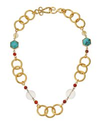 Stephanie Kantis | Metallic Joy Gold-plated Turquoise Necklace | Lyst