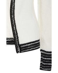 Rodarte - White And Metallic Cashmere Knit Cardigan - Lyst