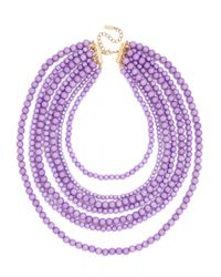 BaubleBar - Purple Bold Beaded Strands - Lyst