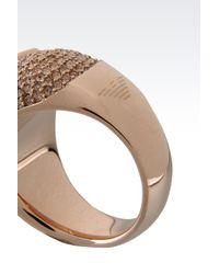 Emporio Armani - Pink Ring - Lyst